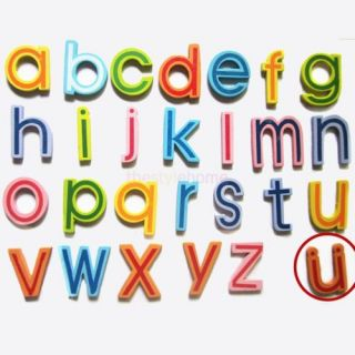 27 Wooden Magnetic Letters Refrigerator Fridge Magnet for Baby Child Learn Toy