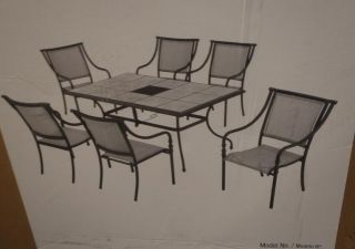 Hampton Bay T07F2U0Q0017 Andrews Patio Set 6 Chairs Only