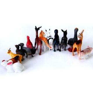 5X 14pcs Mixed Plastic Farm Animals Model Party Toy