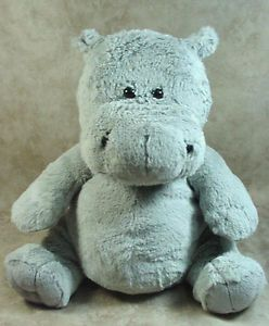 Kohls Cares Hippo Soft Gray Pot Belly Plush Toy Curious George Stuffed Animal