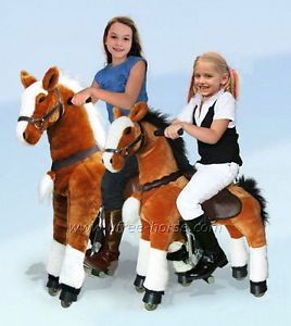 Ride on Toy Pony Outdoor Rocking Plush Horse Unique Kids Gift Giddyup Walk Go
