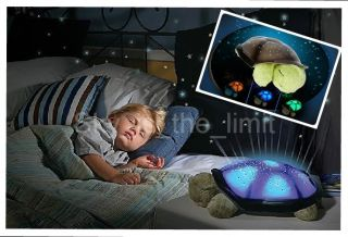 Twilight Turtle Night Light Stars Baby Kid Toy Lamp Constellation Video Inside