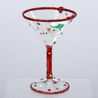 Kurt Adler Christmas Ornament Snowman Martini Glass