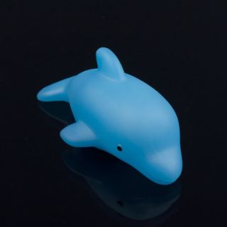 LED Flashing Dolphin Light Bulb Colorful Decor Lamp Bath Toy for Baby Child Kids