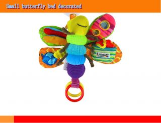 Baby Kids Developmental Lovely Baby's Soft Plush Hang Toys Rattle Crinkle Bell