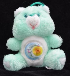 "6"" Seated Miniature 1983 Vintage Plush Bedtime Bear Care Bears Original Kenner"