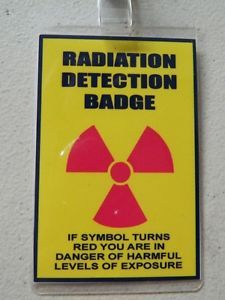Halloween Costume Movie Prop ID Security Badges Radiation Detection Badge