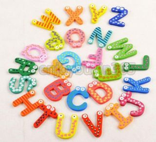 Baby Kids Toy Educational 26 Letters Alphabet Number Cartoon Wooden 3 Style