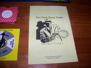 The Dick Tracy Game University Games 1990