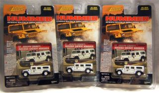 NIP Johnny Lightning South Bend St Joseph County Indiana Sheriff's Hummer 1 64