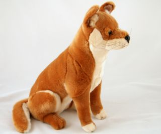 "New Australian Dingo Dog Soft Plush Toy Sitting Large Ralph 16"" 40cm New"