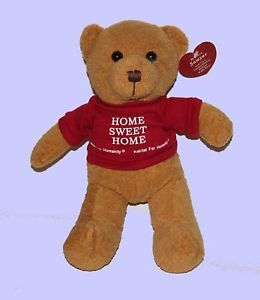 "New Habitat for Humanity ""Home Sweet Home"" Sawyer Teddy Bear Plush Gift Ready"