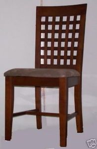 2 Dining Chairs Heavy Duty Cherry Finish