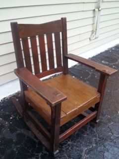 Gistav Stickley Signed Mission Arts Crafts Rocking Chair Pick Up NY or PA