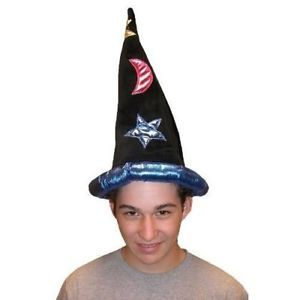 Adult Child Velvet Wizard Hat Merlin Magician Costume