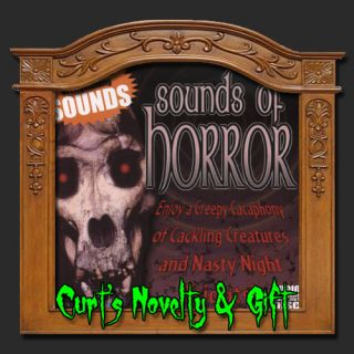 Sounds of Horror Halloween CD Haunted House Spooky Prop