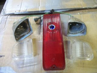 1967 1972 Chevy GMC Truck Back Up Light Lenses Housings and Tail Light Lens