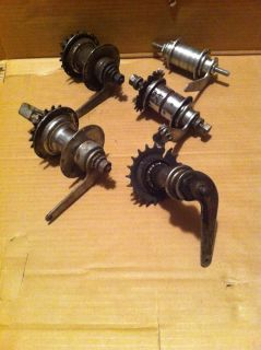 Lot 5 Hubs Vintage 2 Bendix 2 Speed Red Band and Other Bicycle Hubs