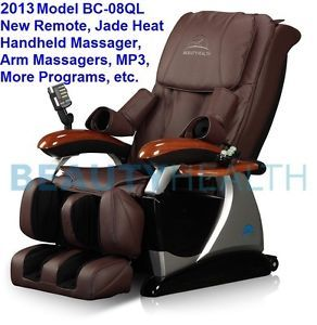 Brand New Beautyhealth BC 08QL Massage Chair Recliner Shiatsu Jade Heat Therapy