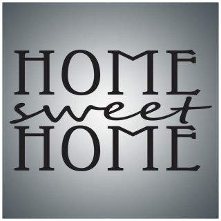 Home Sweet Home Wall Quote Decal Vinyl Lettering Saying
