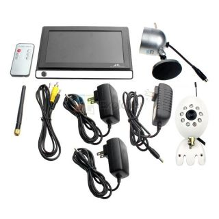 "Wireless 2 4GHz DVR 7 0"" LCD Monitoring LED Color Home Surveillance 2 Camera Kit"