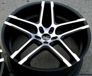 Ruff Racing 954 22 x 9 0 10 M Black Rims Wheels Infiniti M45 Staggered 5H 40