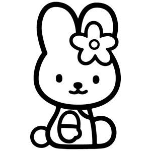 HK 03 HELLO KITTY BUNNY CAR WINDOW HOME WALL MIRROR VINYL DECAL STICKER