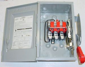 Siemens HNF261 Safety Switch 30 Amp Disconnect Non Fused New