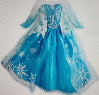 Brand New  Frozen Princess Elsa Costume Dress Icicles Gown Size 7 8