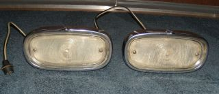 1958 1959 Chevy Pickup Truck or Panel Suburban Park Lens Housings Bezels