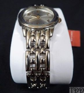 New Ladies Anne Klein Round Silver Bracelet Dress Watch