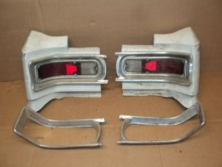 1966 Chevy Chevelle Super Sport Tail Light Housings Extensions Lights 300 SS 396