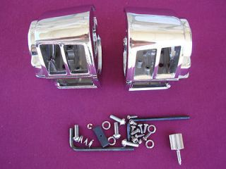 Chrome Switch Housings for Harley Sportster FXR 1982 95 Parts