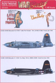 Kits World Decals 1 48 Martin B 26 Marauder Little Pink Panties Our Baby