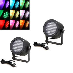 2pcs RGB LED Stage Lights DJ Disco DMX Lighting Laser Projector 25W US Shipping