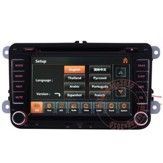 08 11 VW Scirocco Car GPS Navigation Radio TV Bluetooth USB  iPod DVD Player