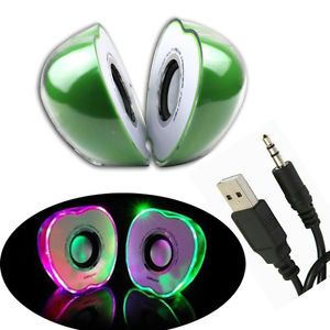 Mini USB LED Portable Speaker Music Player for Cellphone Audio iPod  iPhone