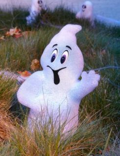 Light Up Color Changing Sparkling Ghost Outdoor Yard Halloween Prop Decoration
