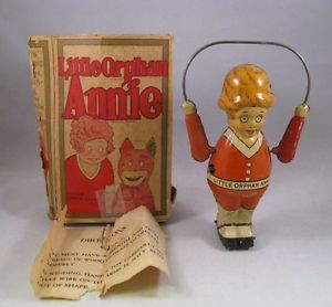 1930s Harold Gray Little Orphan Annie Skipping Rope Jump Rope Tin Wind Up Toy