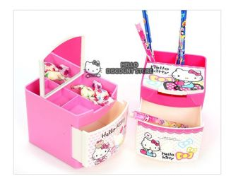 Hello Kitty Multi Jewelry Case Box Desk Organizer Ribbon