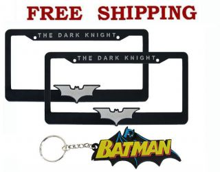 New DC Comics Batman The Dark Knight Car Truck License Plate Frames Keychain