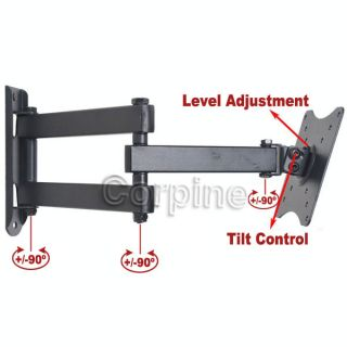 Full Motion Extend Arm Monitor LCD TV Wall Mount 15 16 19 20 22 23 24 26 27 MB1