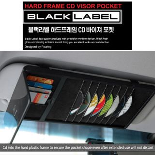 Blacklabel Hard CAR AUTO BLACK SUN VISOR CD HOLDER ORGANIZER STORAGE AUTO TRUCK