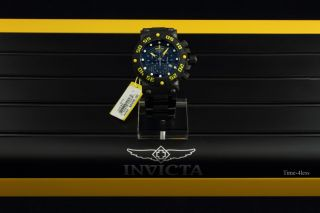 Invicta Subaqua Nitro Black Label Bracelet Watch Kit 3 Extra Straps 10048