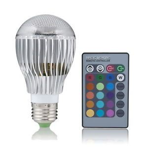 100V 240V 9W E27 Color Changed LED RGB Light Bulb Lamp Lighting Remote Control