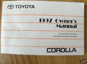 1997 Toyota Corolla Owners Manual