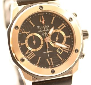 Bulova Marine Star Mens Chronograph Watch 98B104 New