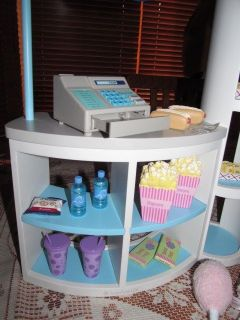 American Girl Concession Stand Snack Bar Hot Dog Water Nacho Food Cash Register