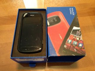 Nokia 808 PureView Black Factory Unlocked 16GB 41MP Camera WiFi GPS Smartphone