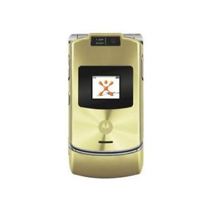 Motorola RAZR V3xx Gold Unlocked Cellular Phone GSM at T T Mobile Cell Phone 800768550416